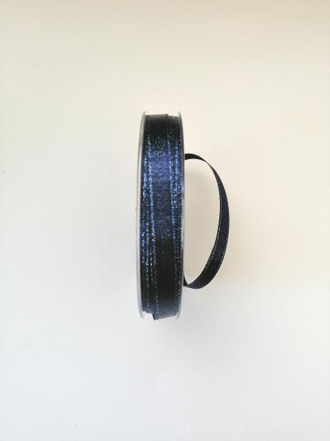 Decoro metallizzato  nastro pbs fondo blu notte 1cm