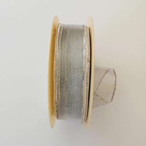 Decoro retina trasparente arti e grafica fondo argento 25 mm