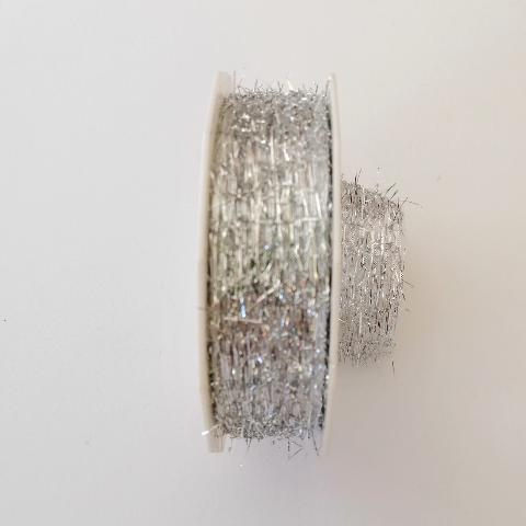 Decoro filini a rilievo  arti e grafica fondo argento 25 mm