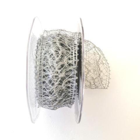 Decoro rete irregolare arti e grafica fondo argento scuro 35 mm