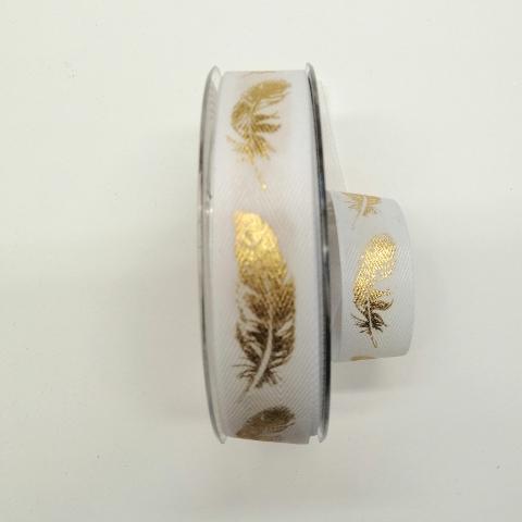 Decoro piume oro  pbs fondo bianco 25 mm a lisca di pesce