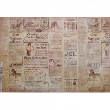 Carta riso quotidiano francese stamperia 33x48