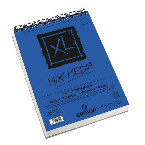 BLOCCO XL MIX MEDIA Canson formato A 4 21x29,7cm  300g/mq