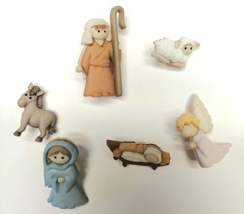 Bottoni decortivi Sacra famiglia Arti e grafica  2/3 cm