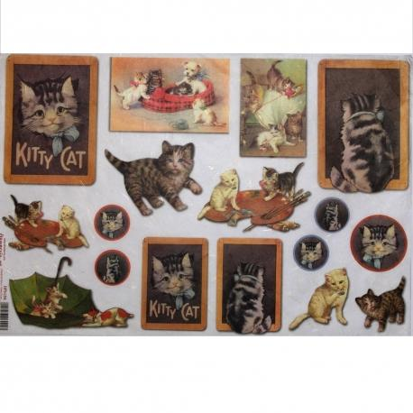 Carta riso cani e gatti stamperia 33x48