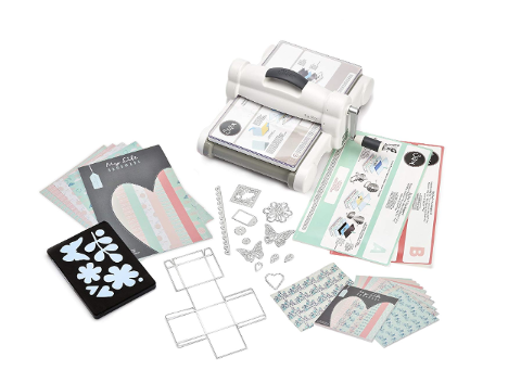 Big Shot Plus My Life Handmade Sizzix StarterKit White/Gray