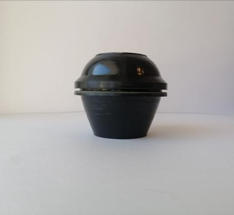 stampo per candela semisferico stamperia  diametro 8 cm