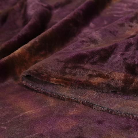 Tessuto Pelliccia Eco Pelliccia bordeaux arti e grafica H 155 x 50 cm