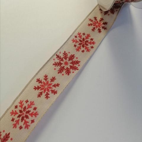 nastro color corda con fiocchi neve goldina 25 mm x 1mt