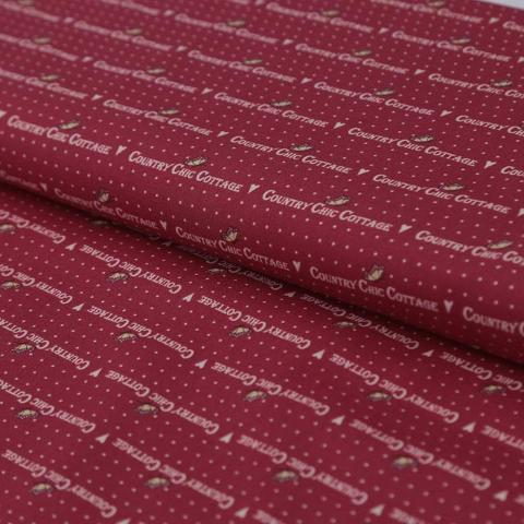 tessuto rosso country chic cottage gutermann 140 cm x 0.30cm stoffe