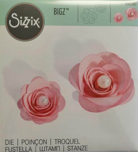 fustella bigz rose sizzix 14 x 14 cm