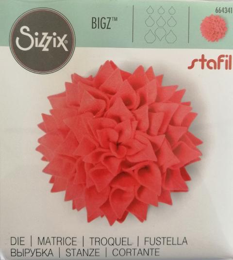 fustella bigz petali sizzix 14 x 14 cm