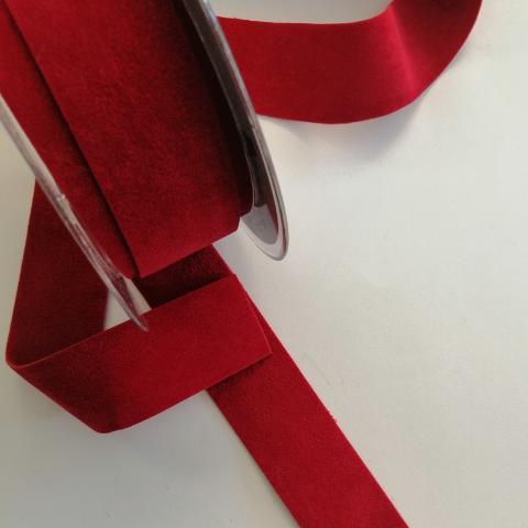 nastro alcantara rosso stafil 25 mm x 1 metro