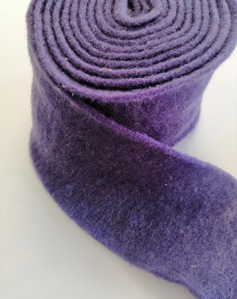 fascia di feltro in lana cotta colore viola stafil 15cm x 1 mt