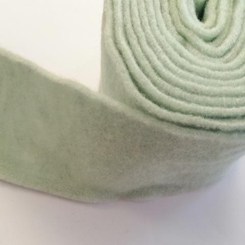 fascia di feltro in lana cotta colore verde acqua stafil 15cm x 1 mt