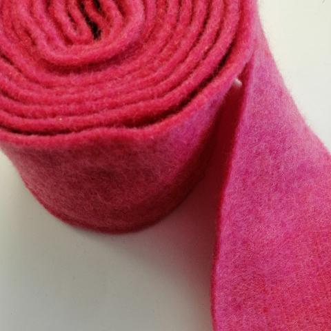 fascia di feltro in lana cotta colore fucsia stafil 15cm x 1 mt