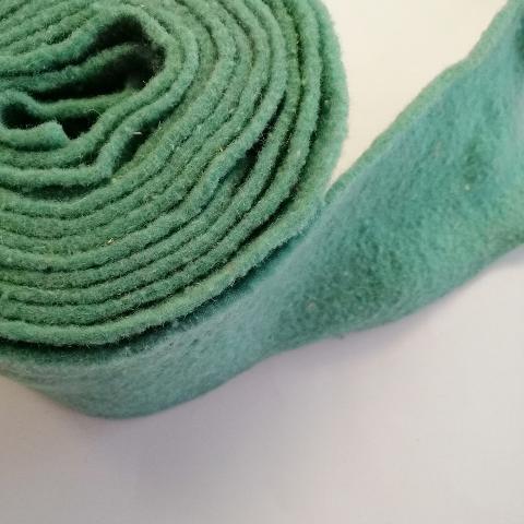 fascia di feltro in lana cotta colore verde tiffany stafil 15cm x 1 mt