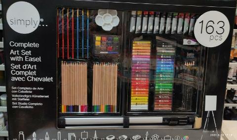Set di 163 pezzi per artisti con cavalletto e valigetta  Daler & Rowney Studio Completo