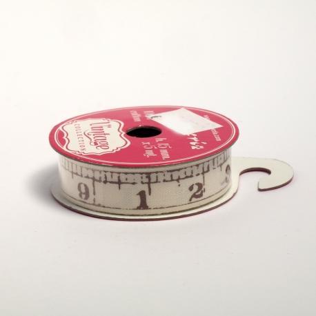 Nastro cotone metro stamperia 15mm