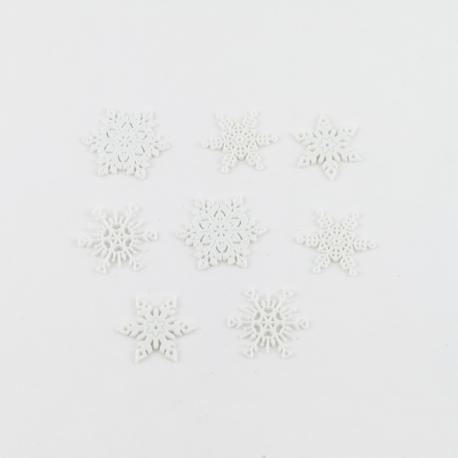 Decorazioni fiocchi di neve arti e grafica 3/3,5cm