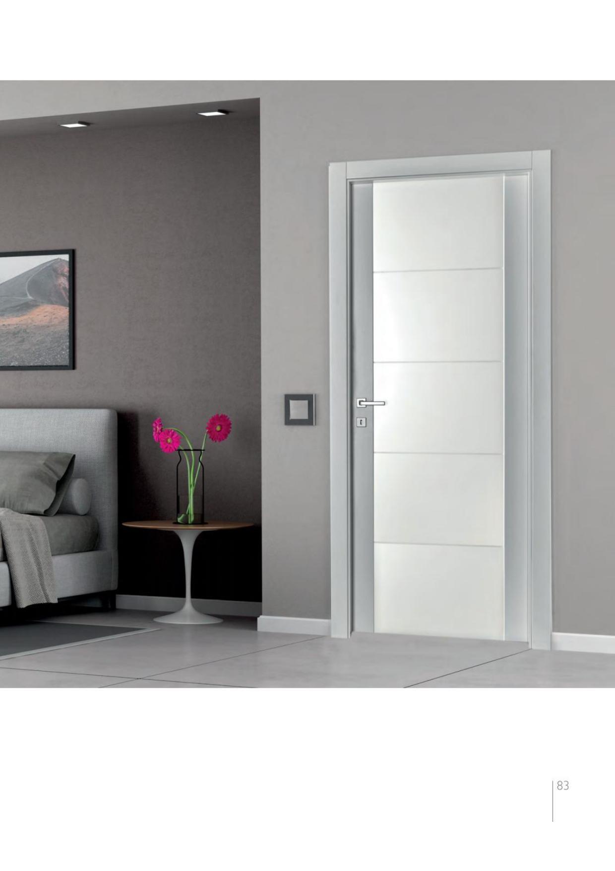 Porte Con Vetro Satinato porte laccate con anta in listellare e vetro temperato