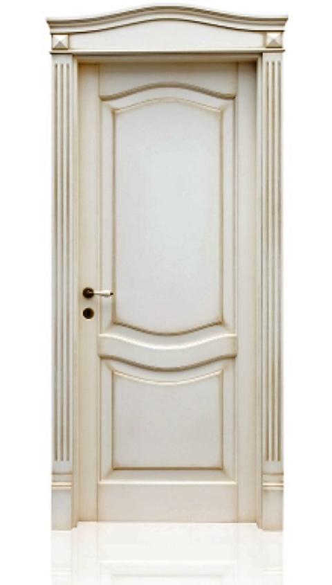 Mod. Alice - Porta in Legno Massello di Toulipier  - Finitura Vaniglia
