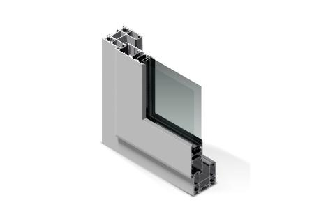 Porte scorrevoli in alluminio taglio termico Twin System