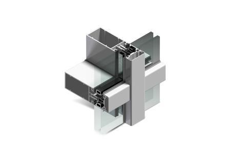 Facciata continua in alluminio Twin System