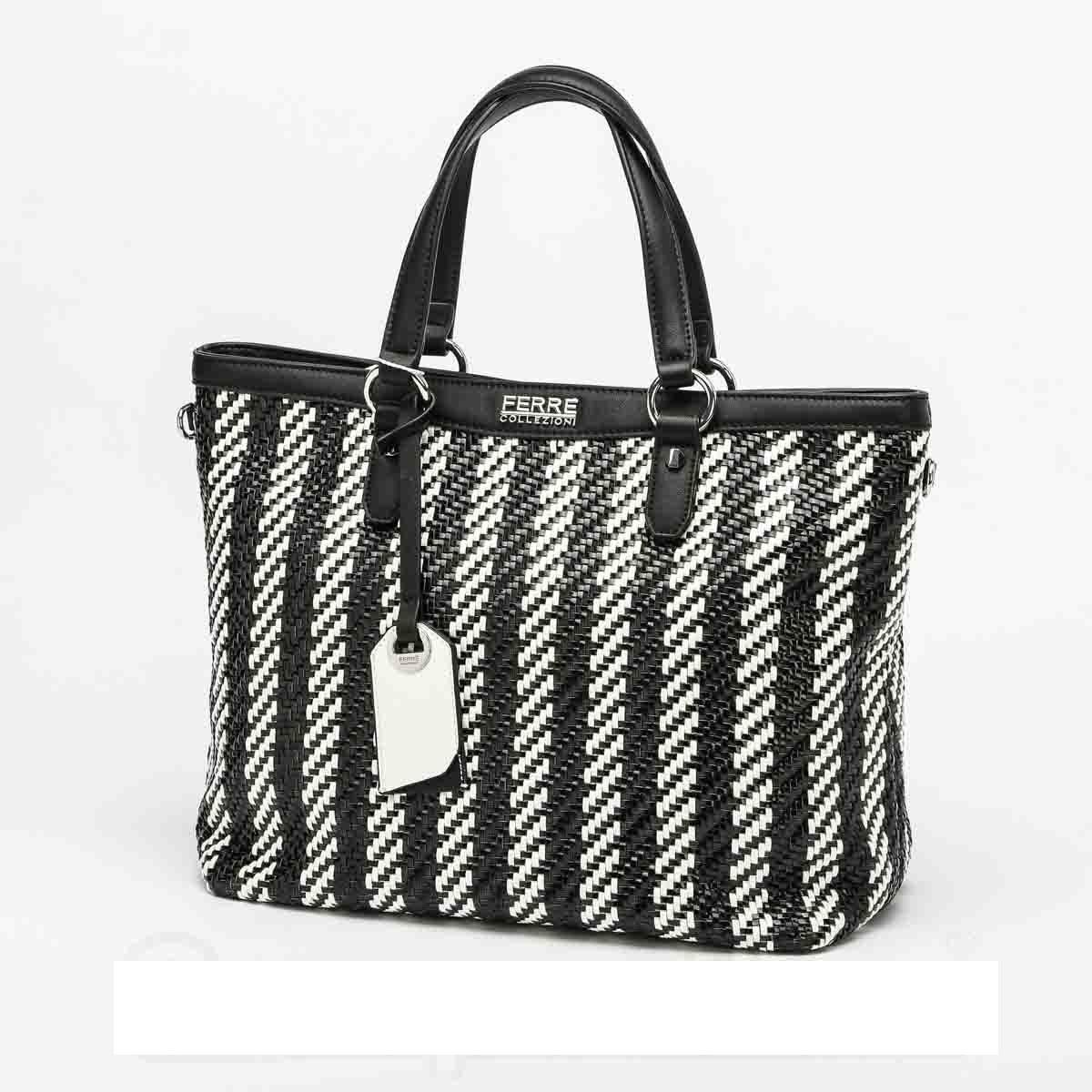 "Shopper  in Ecopelle Linea ""Margherita"" - HFD1T2 068 FERRE  FERRE Shopper  in Ecopelle ""Margherita"" nero"