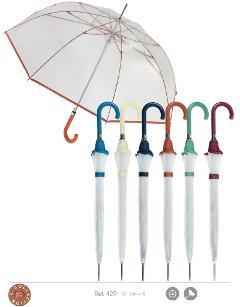 ART CL429  OMBRELLO DONNA LUNGO CLIMA  Ombrelli Clima donna PVC con bordino, 61/8 asta nera. apertura automatica