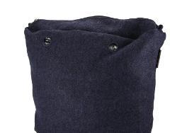 O bag .sacca interna tessuto flanella melange O Bag canvas grande