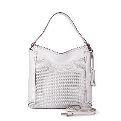 JOANNA BORSA A SPALLA MEDIA colore Bianco Gianni Conti Linea Fashion borsa a spalla in morbida pelle,