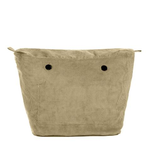 O bag .  sacca  interna cotton corduroy O Bag Sacca interna   O bag in tessuto cotton corduroy con chiusura a zip