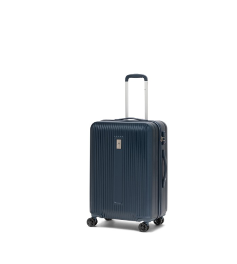 Trolley Medio blu  4 ruote in ABS 100% RONCATO Linea LOUNGE III