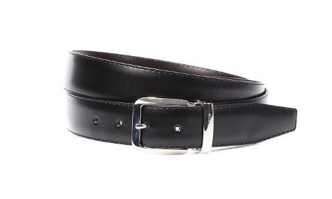 Cintura uomo double nero-marrone Trussardi Linea Favara