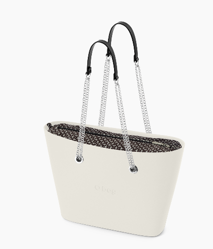 O bag urban latte con manico in metallo O Bag Linea Urban