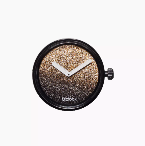 Meccanismo glitter oro O clock O Bag Dimensione 32mm diameter