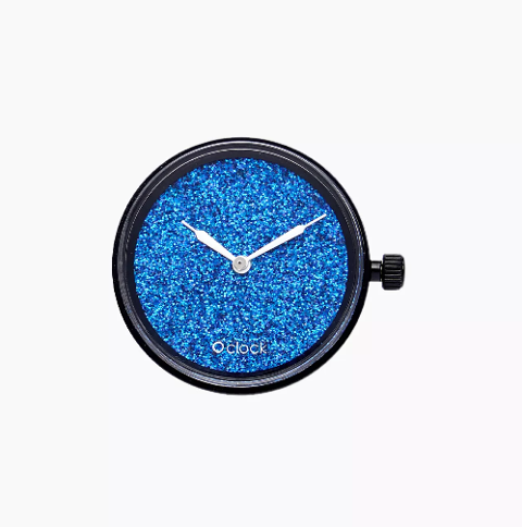 Meccanismo crystal full sky blu navy O clock O Bag Dimensione 32mm diameter