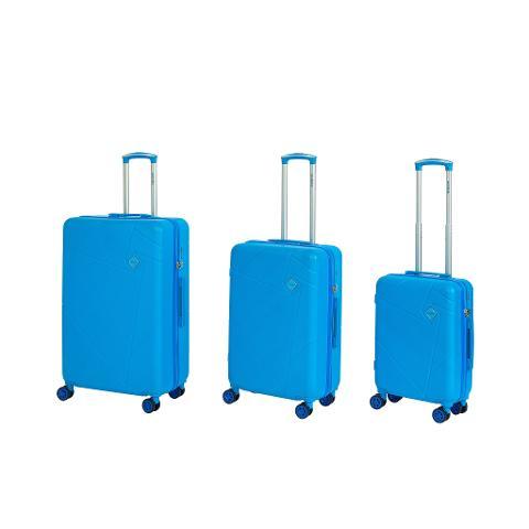 Set 3 trolley grande - medio - cabina Azzurro RAVIZZONI RAINBOW