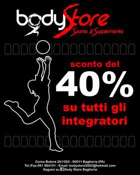 INTEGRATORI TUTTO AL 40%