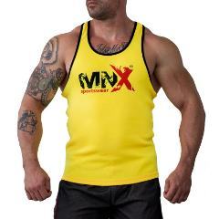 Yellow Ribbed Tank Top MNX