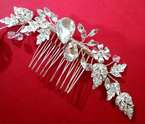 Pettinino con strass  - Atelier Lidya - perla
