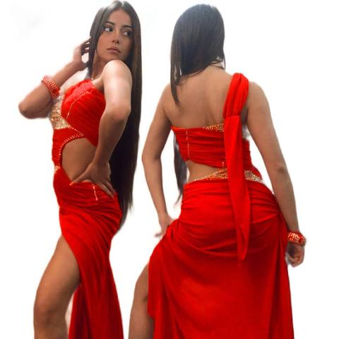 Abito  danza latina (spedizione gratuita) -Lidya Dance -London