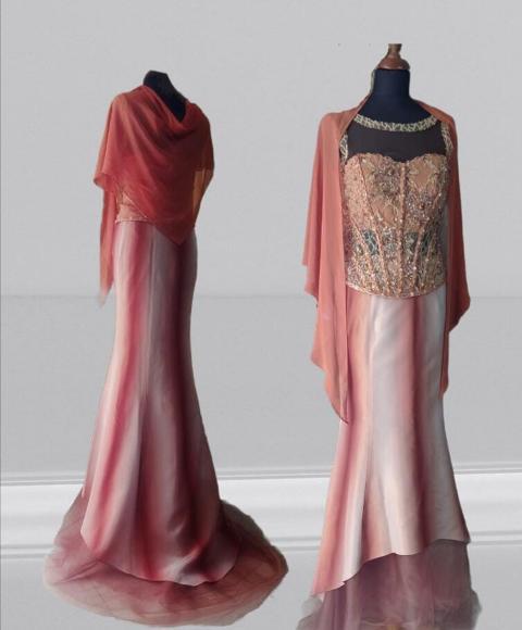 Abito cerimonia  -Atelier Lidya - modello Tamara