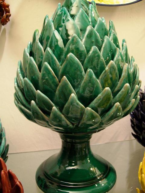 Carciofo in maiolica Ceramica Rossa artigianale