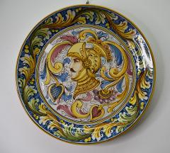 Piatto ornamentale in ceramica da parete Produzione artigianale di Caltagirone  Paladino diametro 45cm