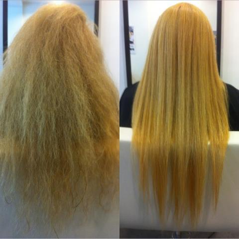 Trattamento capelli alla keratina