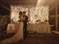TENDA LUCI LED CASCATA di LUCI Luminarie Matrimonio