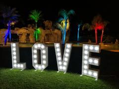 SCRITTA LOVE 3D Classica Luminarie Matrimonio