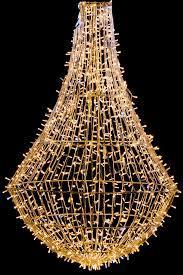 Lampadario 3D Metal Strutture Luminaria Natalizia